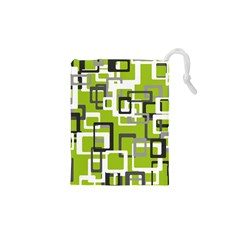 Pattern Abstract Form Four Corner Drawstring Pouches (XS)