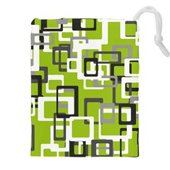 Pattern Abstract Form Four Corner Drawstring Pouches (XXL)