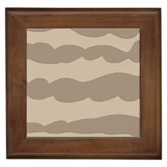 Pattern Wave Beige Brown Framed Tiles
