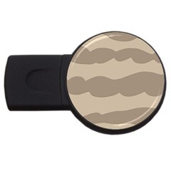 Pattern Wave Beige Brown Usb Flash Drive Round (2 Gb)
