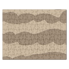 Pattern Wave Beige Brown Rectangular Jigsaw Puzzl