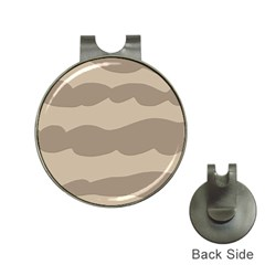 Pattern Wave Beige Brown Hat Clips With Golf Markers