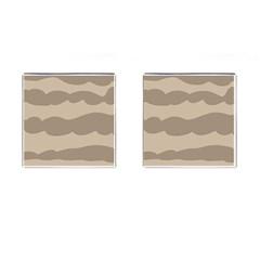Pattern Wave Beige Brown Cufflinks (square)