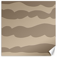 Pattern Wave Beige Brown Canvas 20  X 20