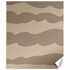 Pattern Wave Beige Brown Canvas 20  X 24