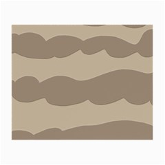 Pattern Wave Beige Brown Small Glasses Cloth (2-Side)