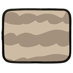 Pattern Wave Beige Brown Netbook Case (large)