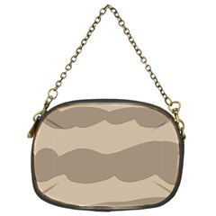 Pattern Wave Beige Brown Chain Purses (two Sides)