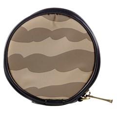 Pattern Wave Beige Brown Mini Makeup Bags