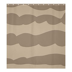 Pattern Wave Beige Brown Shower Curtain 66  X 72  (large)