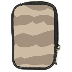 Pattern Wave Beige Brown Compact Camera Cases