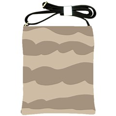Pattern Wave Beige Brown Shoulder Sling Bags