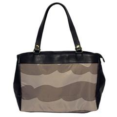 Pattern Wave Beige Brown Office Handbags