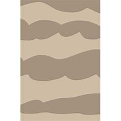 Pattern Wave Beige Brown 5.5  x 8.5  Notebooks
