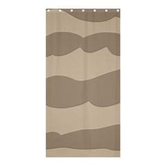 Pattern Wave Beige Brown Shower Curtain 36  X 72  (stall)