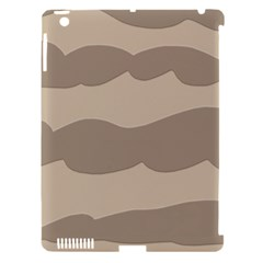 Pattern Wave Beige Brown Apple Ipad 3/4 Hardshell Case (compatible With Smart Cover)