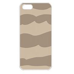 Pattern Wave Beige Brown Apple iPhone 5 Seamless Case (White)