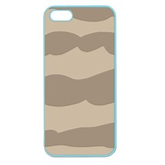 Pattern Wave Beige Brown Apple Seamless Iphone 5 Case (color)