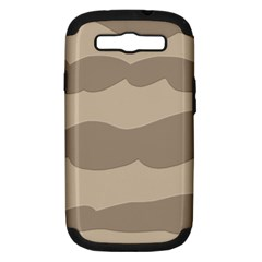 Pattern Wave Beige Brown Samsung Galaxy S Iii Hardshell Case (pc+silicone)