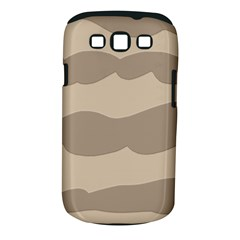 Pattern Wave Beige Brown Samsung Galaxy S Iii Classic Hardshell Case (pc+silicone)