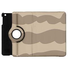 Pattern Wave Beige Brown Apple Ipad Mini Flip 360 Case