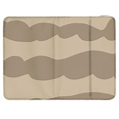 Pattern Wave Beige Brown Samsung Galaxy Tab 7  P1000 Flip Case