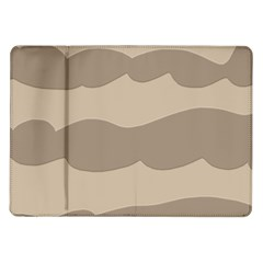 Pattern Wave Beige Brown Samsung Galaxy Tab 10 1  P7500 Flip Case