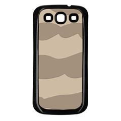 Pattern Wave Beige Brown Samsung Galaxy S3 Back Case (black)