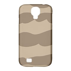 Pattern Wave Beige Brown Samsung Galaxy S4 Classic Hardshell Case (pc+silicone)