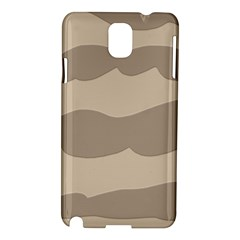 Pattern Wave Beige Brown Samsung Galaxy Note 3 N9005 Hardshell Case