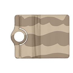 Pattern Wave Beige Brown Kindle Fire Hd (2013) Flip 360 Case
