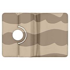 Pattern Wave Beige Brown Kindle Fire Hdx Flip 360 Case