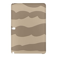 Pattern Wave Beige Brown Samsung Galaxy Tab Pro 10 1 Hardshell Case