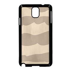 Pattern Wave Beige Brown Samsung Galaxy Note 3 Neo Hardshell Case (black)