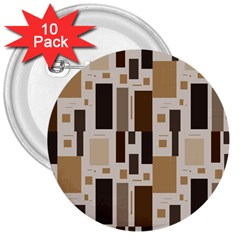 Pattern Wallpaper Patterns Abstract 3  Buttons (10 pack)