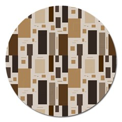 Pattern Wallpaper Patterns Abstract Magnet 5  (Round)