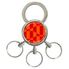 Background Texture Pattern Colorful 3-Ring Key Chains