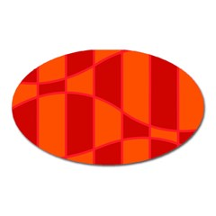 Background Texture Pattern Colorful Oval Magnet