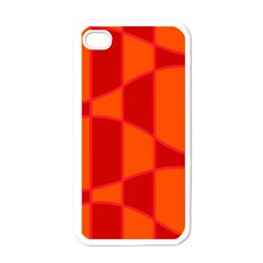 Background Texture Pattern Colorful Apple iPhone 4 Case (White)