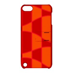 Background Texture Pattern Colorful Apple Ipod Touch 5 Hardshell Case With Stand