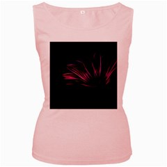 Pattern Design Abstract Background Women s Pink Tank Top