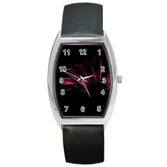 Pattern Design Abstract Background Barrel Style Metal Watch