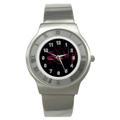 Pattern Design Abstract Background Stainless Steel Watch