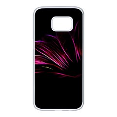 Pattern Design Abstract Background Samsung Galaxy S7 Edge White Seamless Case