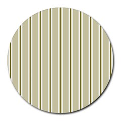 Pattern Background Green Lines Round Mousepads