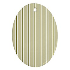 Pattern Background Green Lines Ornament (oval)