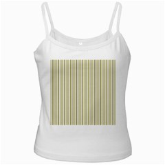 Pattern Background Green Lines White Spaghetti Tank