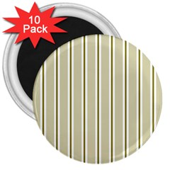 Pattern Background Green Lines 3  Magnets (10 Pack)