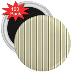 Pattern Background Green Lines 3  Magnets (100 pack)