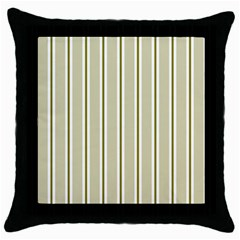 Pattern Background Green Lines Throw Pillow Case (Black)